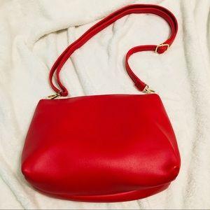 Andrew Marc Red make up bag/crossbody